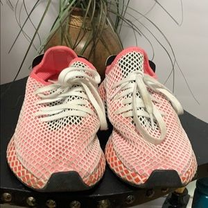 ADIDAS PINK MESH SNEAKERS Size 10